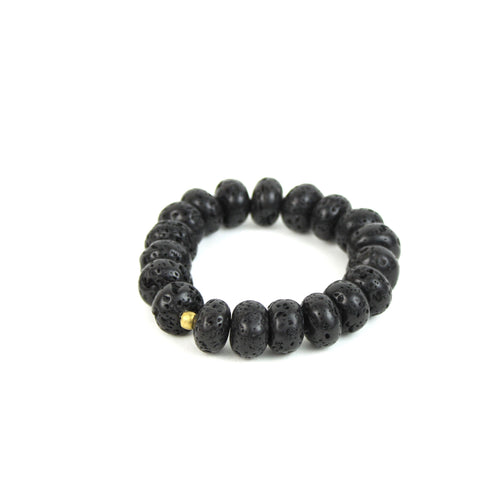 ESSENTIAL OIL | Diffuser Bracelet w/ Extra Large Lava Beads