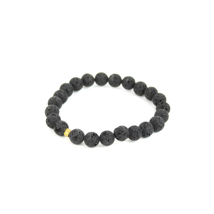 BRACELET | Essential Oils Diffuser Bracelet - Medium Lava Bead