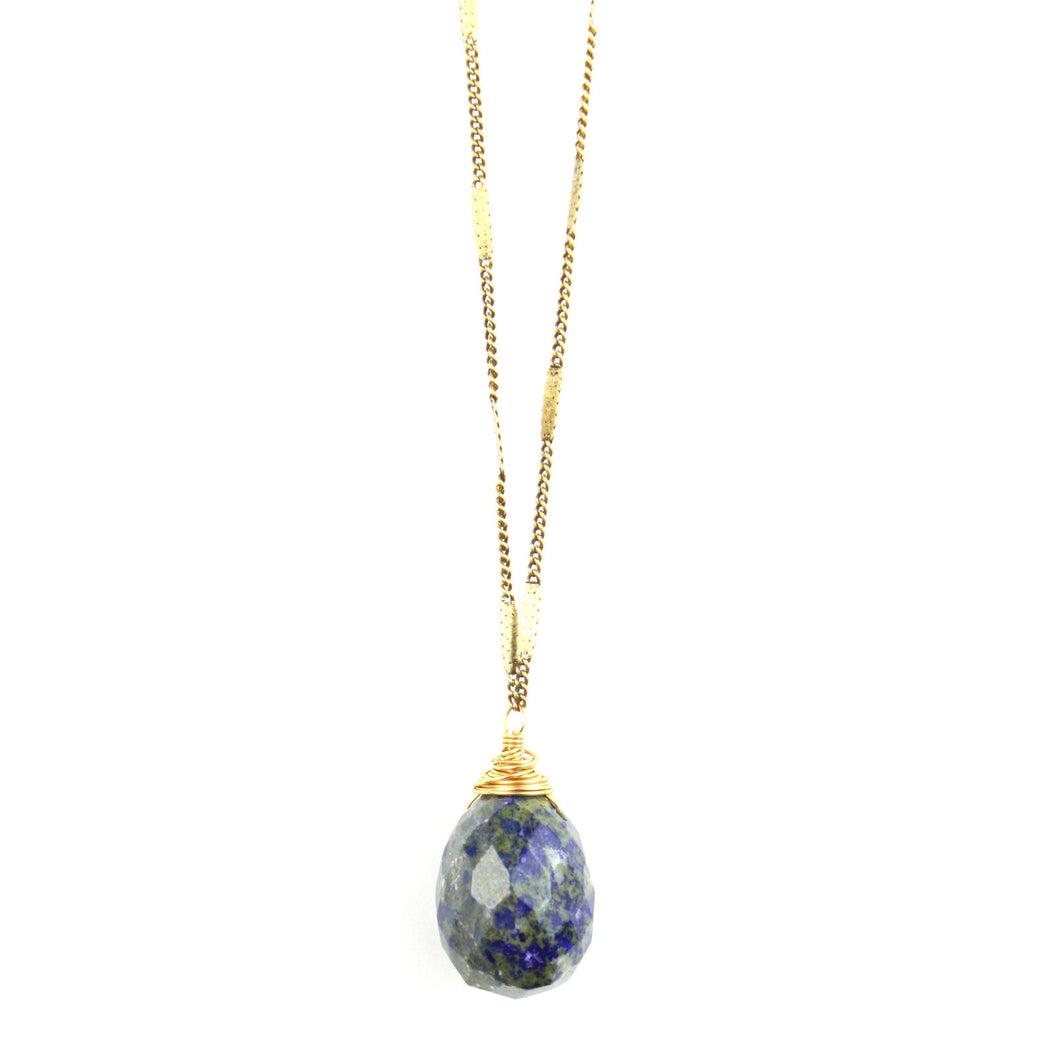 ZARA Drop Necklace | Lapis