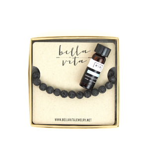 ESSENTIAL OIL | Diffuser Bracelet + Essential Oil Bracelet Set