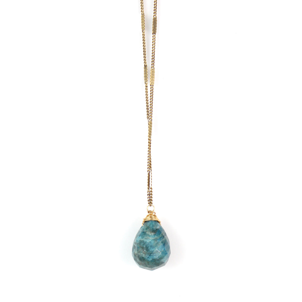 ZARA Drop Necklace | Apatite
