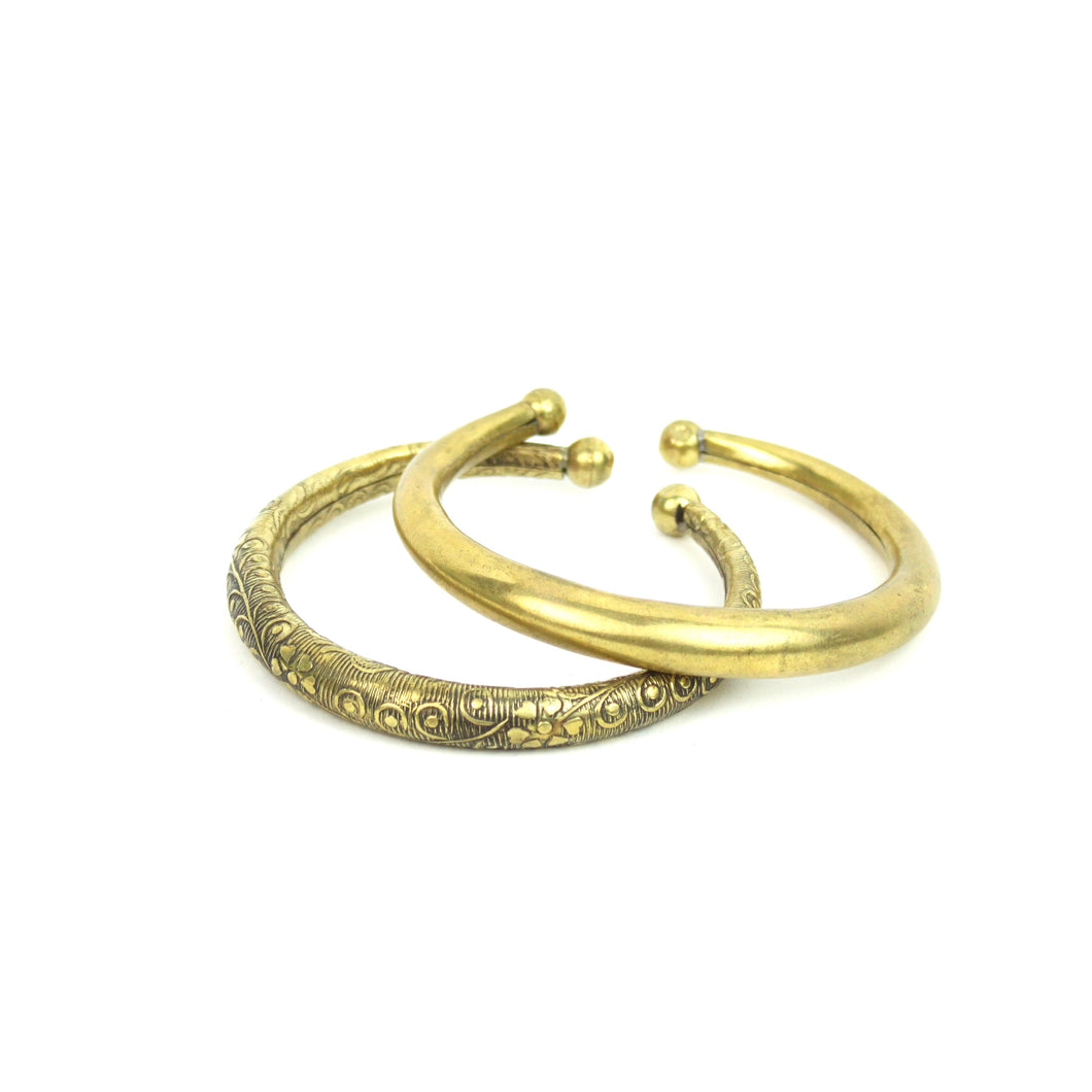 BRACELET | Brass Torque Cuff from India