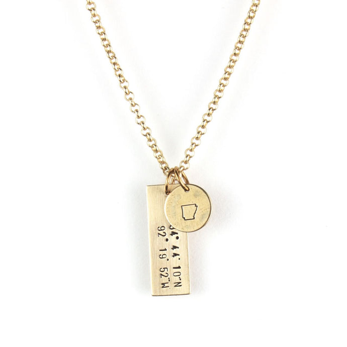 PLACE | Coordinates Necklace