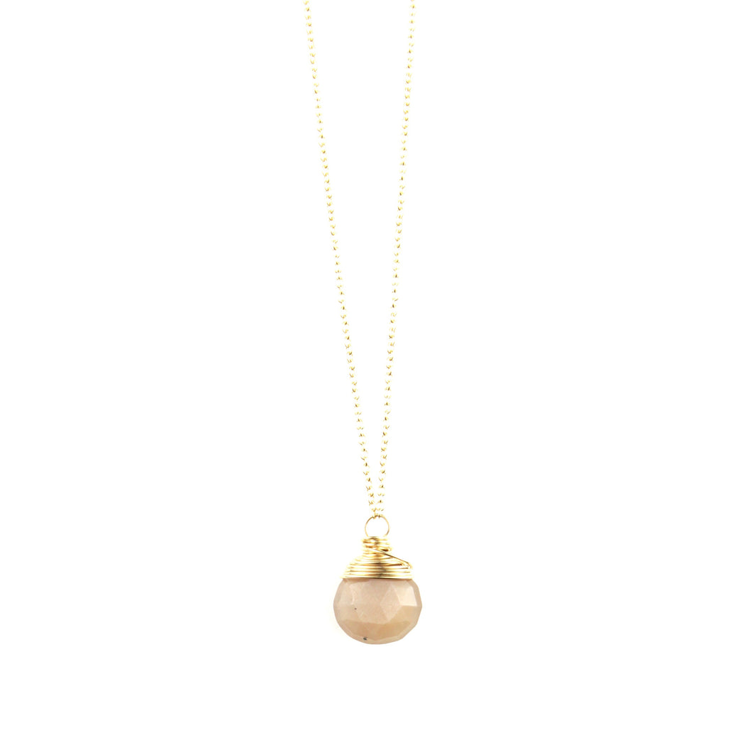 PANTONE Peach Moonstone Necklace