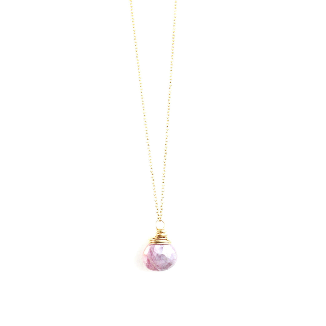 PANTONE Pink Moonstone Necklace