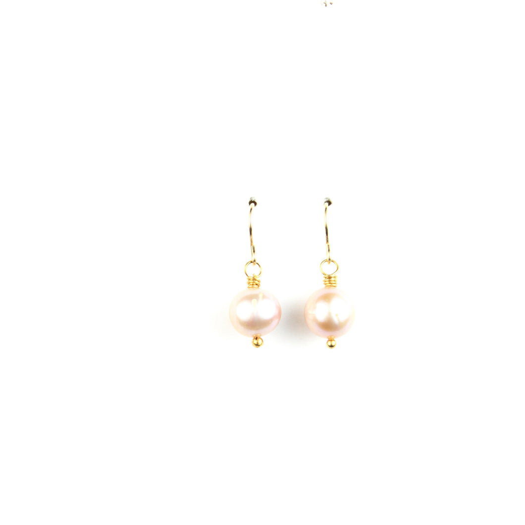 PANTONE Pink Pearl Earrings