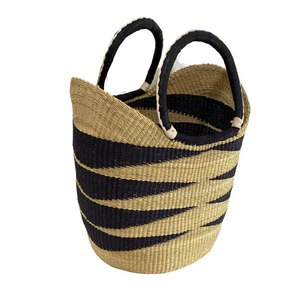 BASKET | Savanna Striped Shopper Basket
