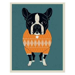 PRINT | Dog - Boston Terrier