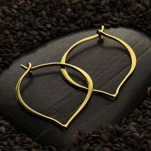 EARRINGS | ND Gold Plated Lotus Petal Hoops