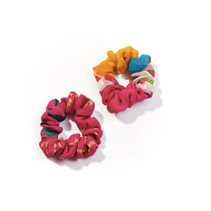 HAIR ACCESSORIES | Upcycled Sari Scrunchie