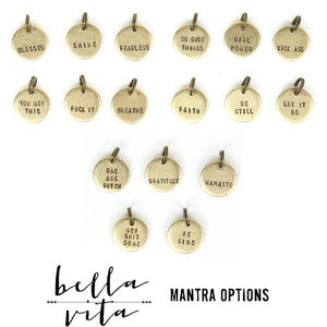 MANTRA Necklace | Handstamped Round 14K Gold Fill