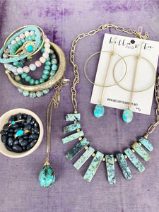 BIB Necklace | African Turquoise