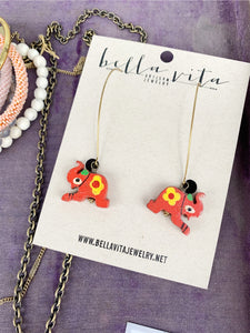 CHARM EARRINGS | Wood Elephant
