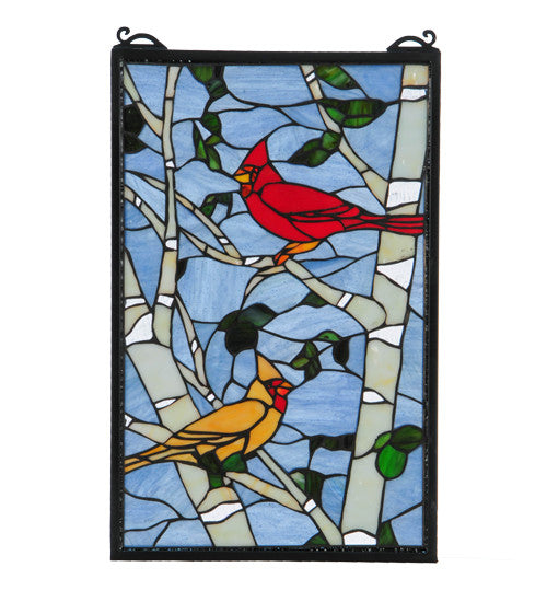 "13""W X 20""H Cardinal Morning Window"