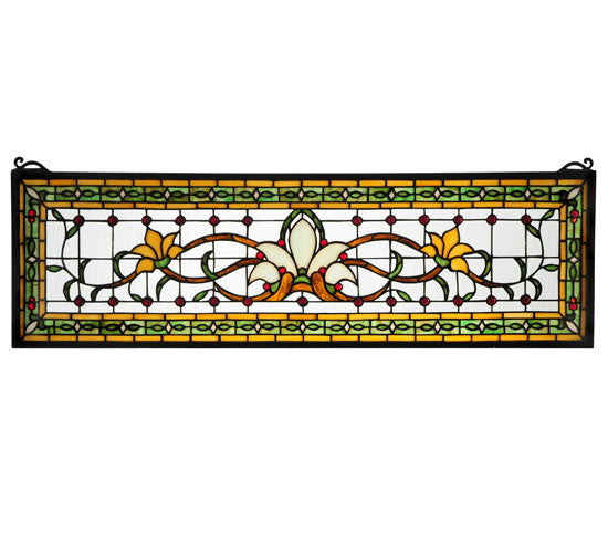 "33""W X 10""H Fairytale Transom Stained Glass Window"