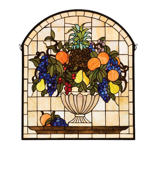 "25""W X 29""H Fruitbowl Stained Glass Window"