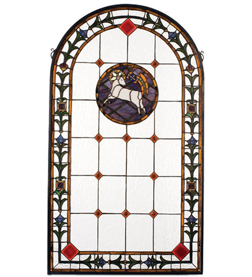 "23""W X 40""H Lamb Of God Stained Glass Window"