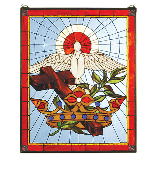 "24""W X 30""H Christian Stained Glass Window"