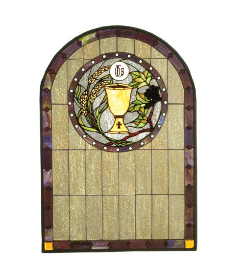 "22""W X 32""H Sacrament Stained Glass Window"