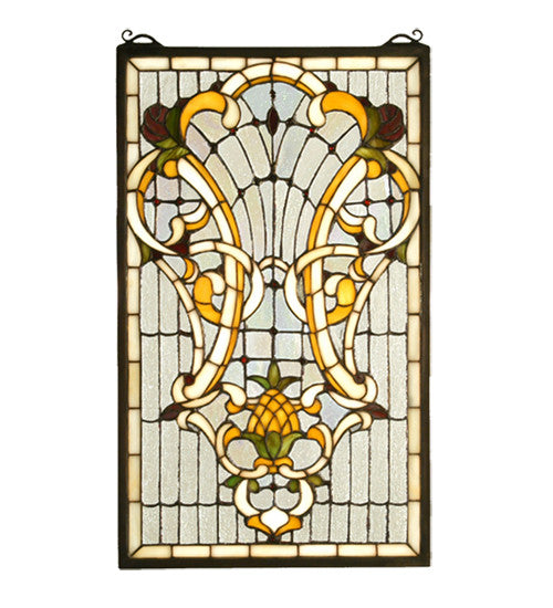 "12""W X 20""H Victorian Welcome Stained Glass Window"