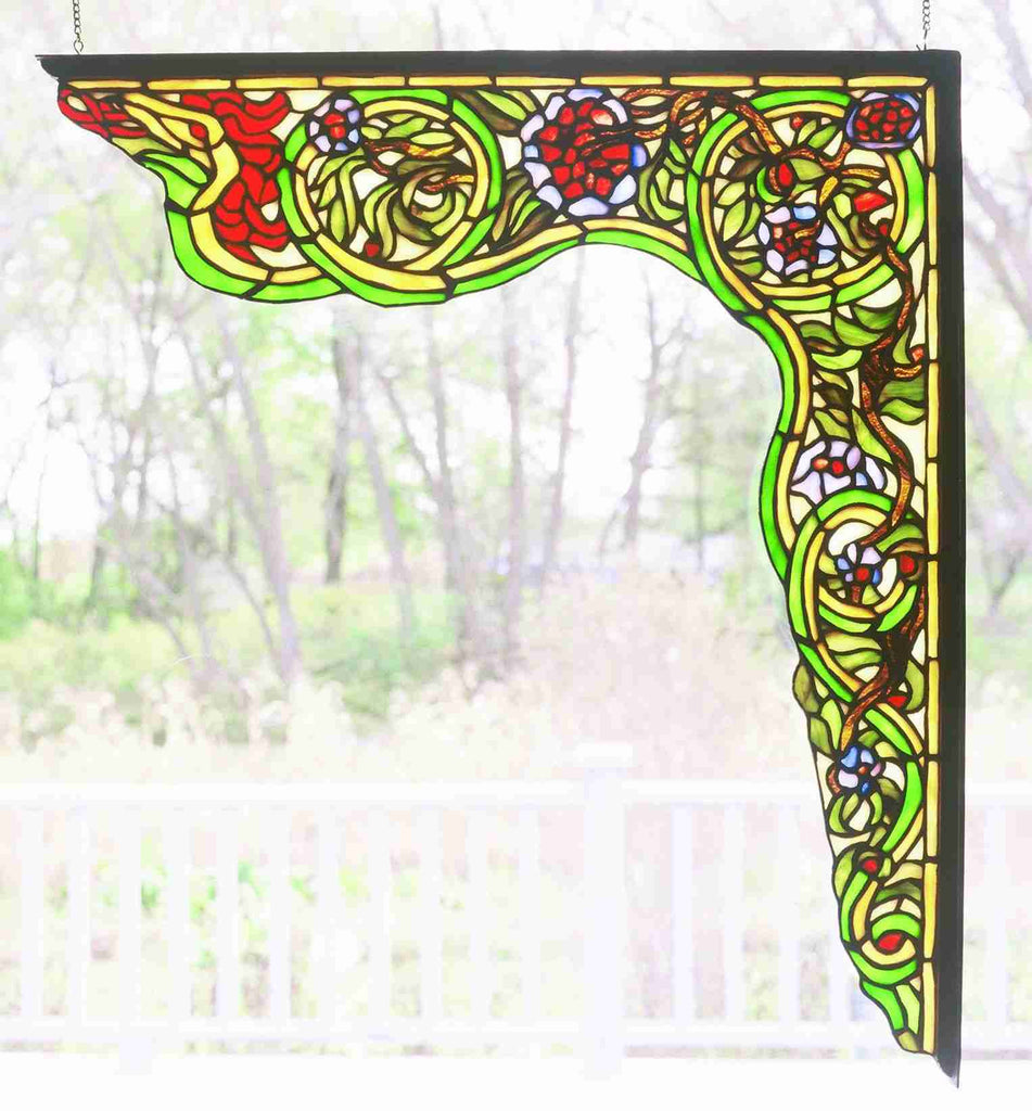 "22""W X 23.5""H Serpent Right Corner Bracket Window"