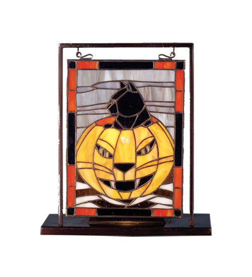 "9.5""W X 10.5""H Halloween Lighted Mini Tabletop Window"