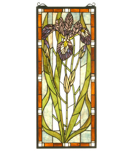 "12""W X 28""H Iris Stained Glass Window"
