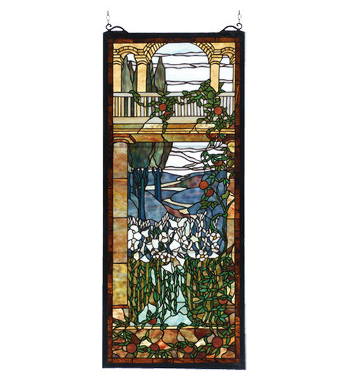 "17""W X 40""H Tiffany Peace Balcony Stained Glass Window"