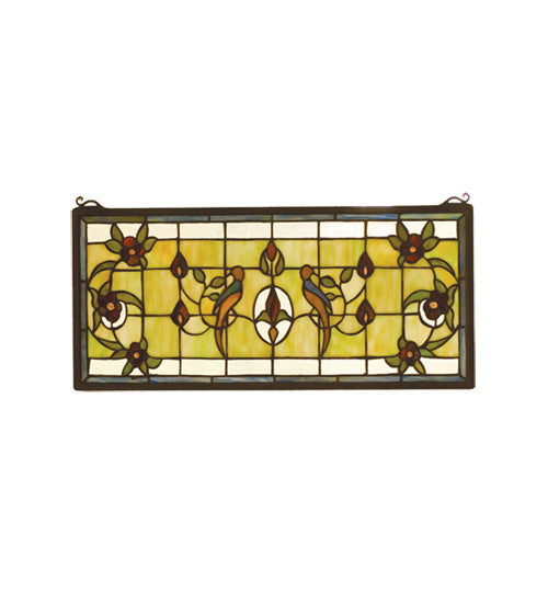 "22""W X 10""H Lancaster Stained Glass Window"