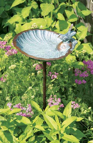 Brass Birdbath Scallop Shell Design