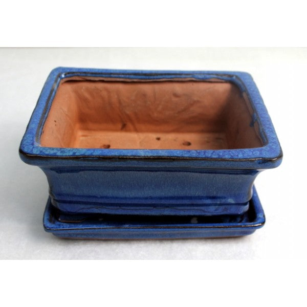 "6"" Blue Rectangle Pot"