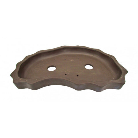 Wavy Shallow Dish for Bonsai Pots 16""