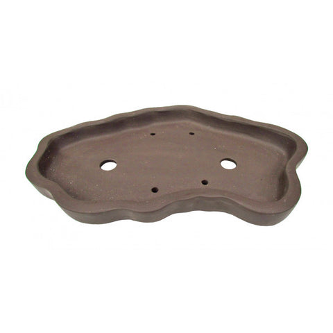 Wavy Shallow Dish for Bonsai Pots 15""