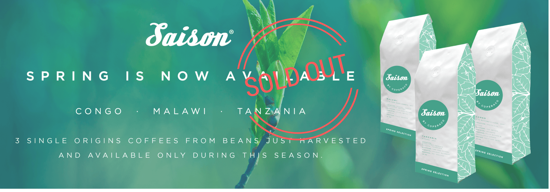 Coperaco seasonal coffees for Spring 2017 are Sold out !