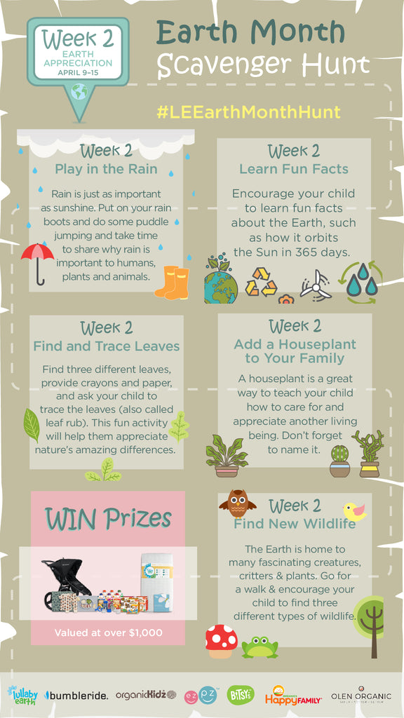 Earth Month Scavenger Hunt: Week 2