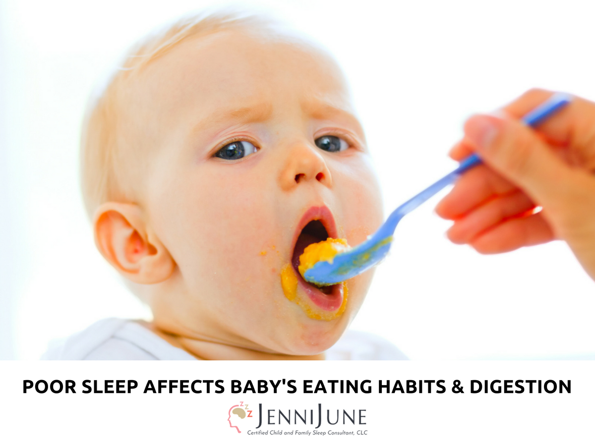 poor sleep affects baby's eatign habits