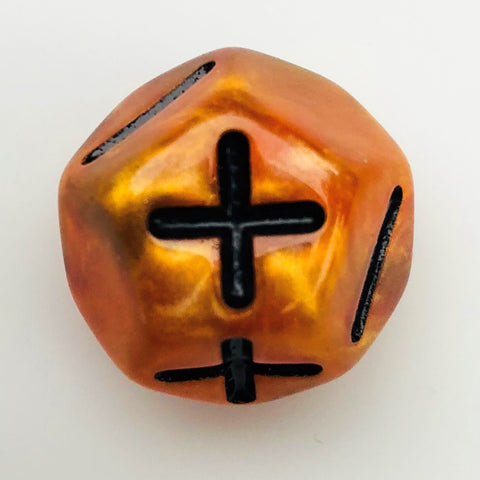DoubleFudge (Fate) II: Marble Orange with Black