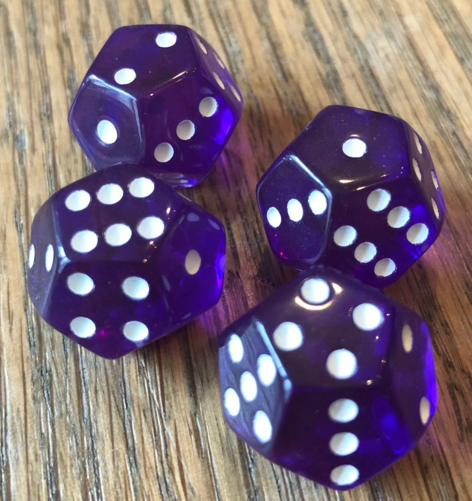 Clear Purple with White Pips (4-pack)