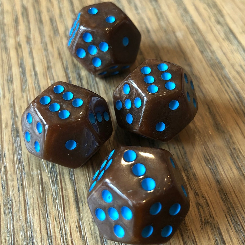Pearl Brown with Teal Pips (4-pack); Limited Edition