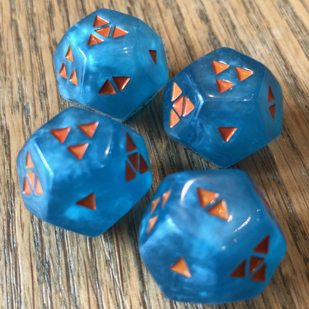 TripleFour: Jazzy Bear III - Pearl Teal w/ Orange Symbols (4-pack); Limited Edition