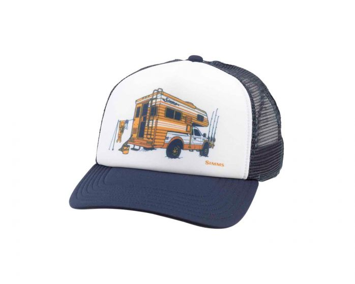 Simms Slide-In White Trucker Hat