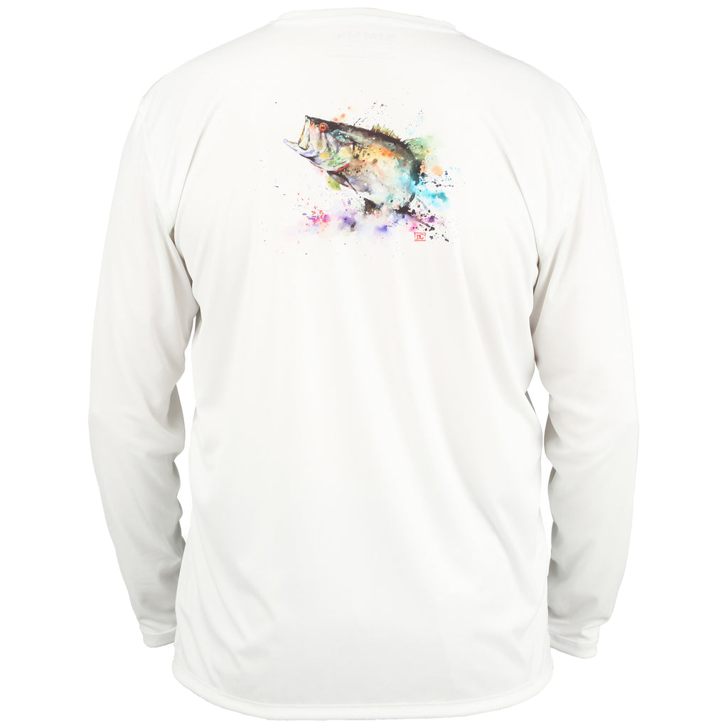 Simms Solar Tech Long Sleeve Sun Shirt - Largemouth White