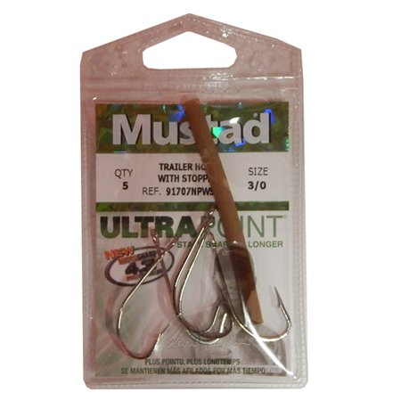 Mustad Spinner Bait Trailer Hook W/Stopper