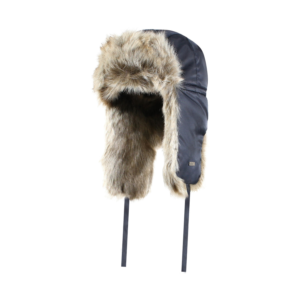 Ganka Nylon Quilted Fur Hat