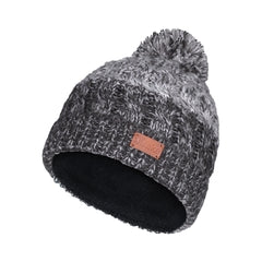 Laska Knit Fleece Pompom Toque
