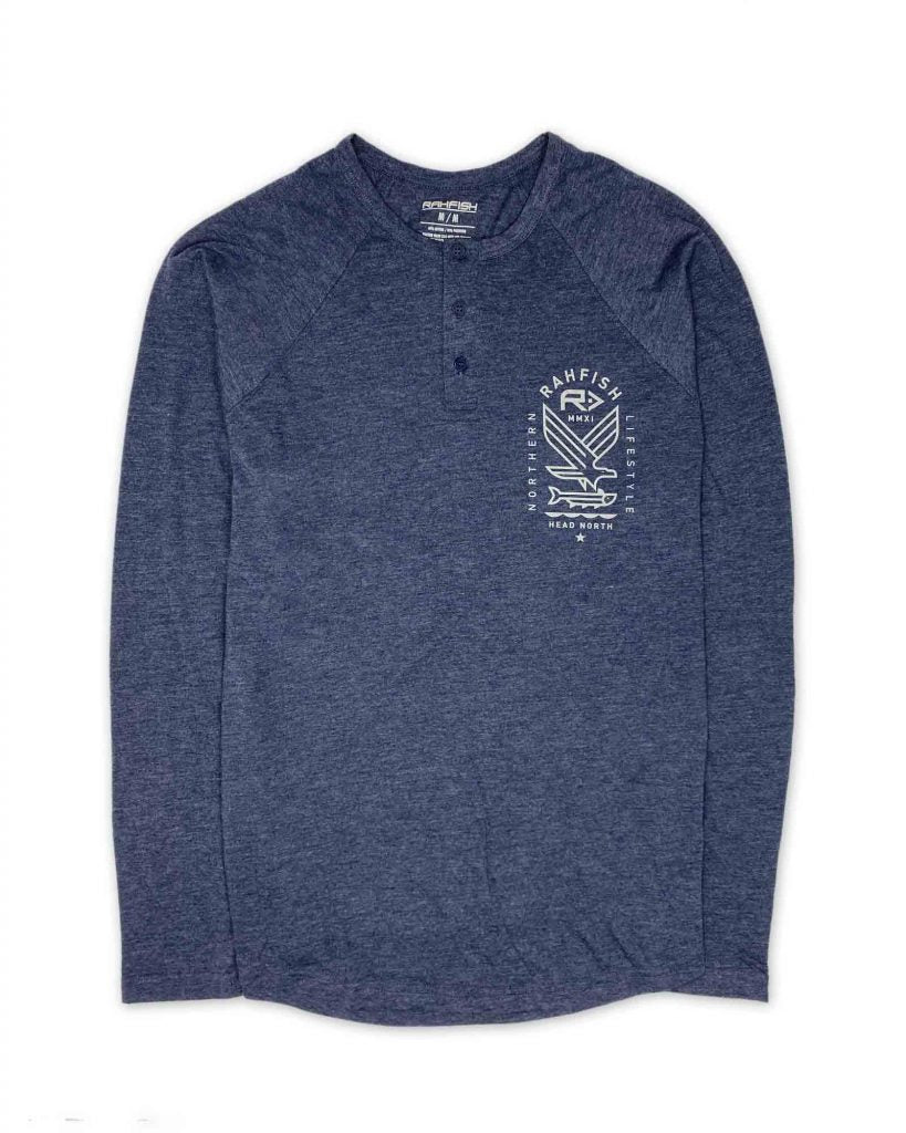 Rahfish Bird of Prey Henley - Navy