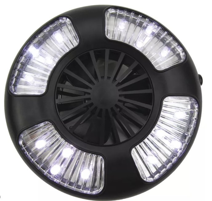 Clam Fan/LED Light Combo