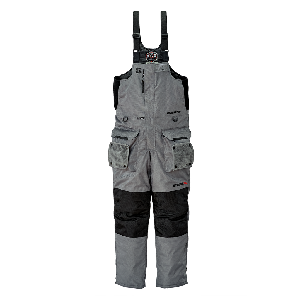 Striker Ice Hardwater Bib - Gray/Black