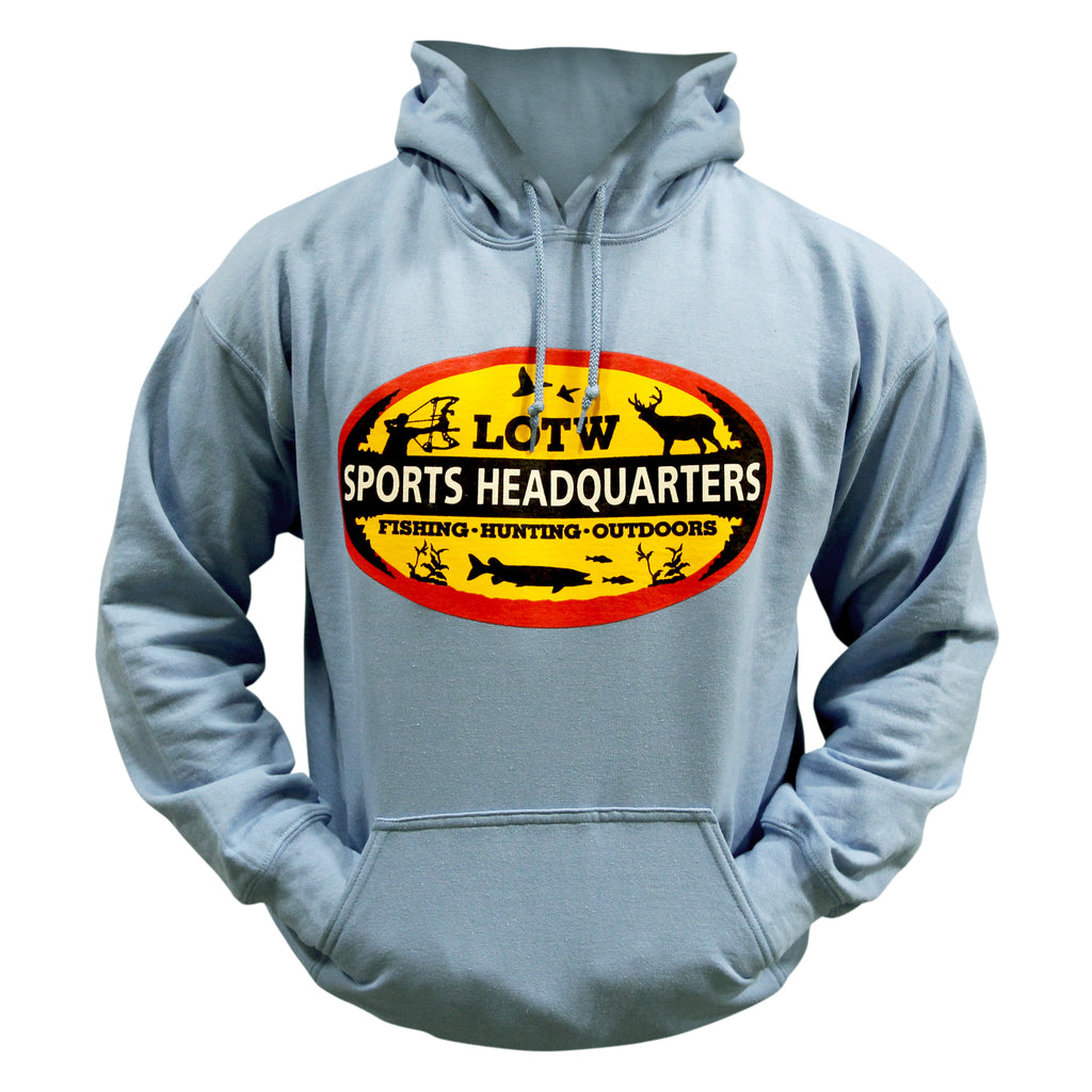 LOTW Sports Headquarters Adult Unisex Hoodie - Baby Blue