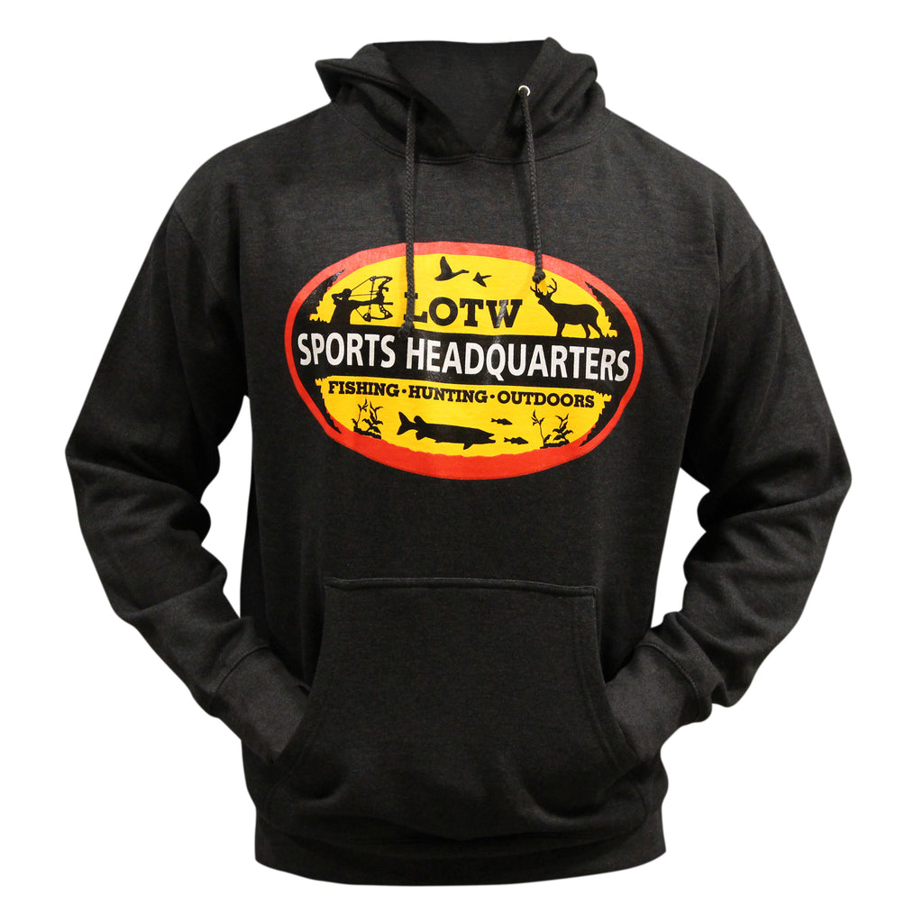 LOTW Sports Headquarters Adult Unisex Hoodie - Charcoal Heather